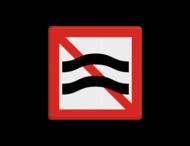 Scheepvaartbord BPR A. 9 - Verboden hinderlijke waterbeweging te veroorzaken