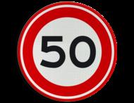 Verkeersbord RVV A01-050 - Maximum snelheid 50 km/h