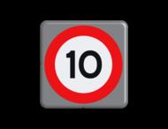 Verkeersbord MINI 300x300x28 - RVV A01