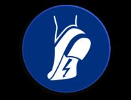 Veiligheidspictogram - Anti statische schoenen verplicht - M032
