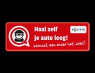Informatiebord L207d - auto-inbraak - haal zelf je auto leeg!