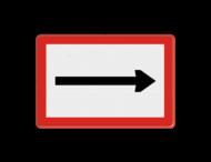 Scheepvaartbord BPR B. 1 - Verplicht te varen in de richting aangegeven door de pijl