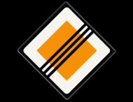 Verkeersbord RVV B02 - Einde voorrangsweg