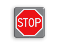 Verkeersbord MINI 300x300x28 - RVV B07