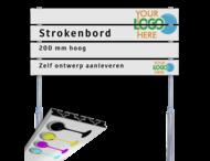 Strokenbord VOL reflecterend + eigen ontwerp (excl. palen)