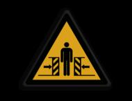 Veiligheidspictogram - Pas Op! voor bekneld raken - W019