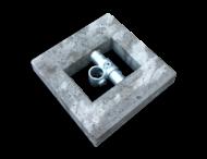 Betonblok 300x300x100mm t.b.v. buis ø48mm