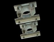 Bordbeugel dubbelzijdig (set 2 stuks) Ø48mm - rug-rug montage