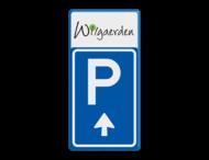 Bewegwijzering parkeerplaats + logo | BW201 + pijlfiguratie