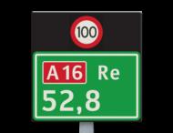 Hectometerbord BB08 + snelheid [ Re ]