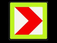Verkeersbord RVV BB12rf - fluor rand