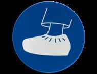 Pictogram MG24 - Overschoenen verplicht