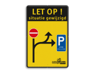 Verkeersbord situatie gewijzigd - C1 - E9 zone kiss&ride - België