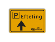 Verkeersbord WIU geel/zwart Efteling Route