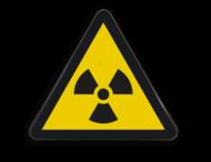 Pictogram W003 - Gevaar voor radioactief materiaal