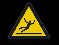 Waarschuwingsbord W011 - Gevaar voor glad oppervlak