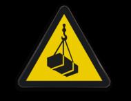 Pictogram W015 - Gevaar voor hangende lasten