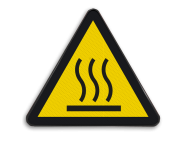 Pictogram W017 - Gevaar voor heet oppervlak