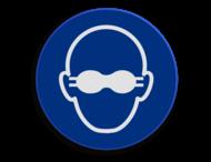 Veiligheidspictogram - Bril dragen verplicht - M004