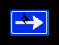 Verkeersbord blauw/wit C04 - broem