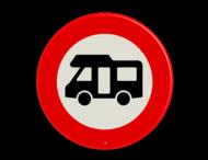 Verkeersbord RVV C06_1 camper