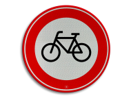 Verkeersbord RVV C14 - Gesloten voor fietsers