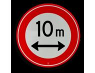 Verkeersbord RVV C17-... - Gesloten voor te lange voertuigen