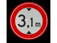 Verkeersbord RVV C19-... - Gesloten voor te hoge voertuigen