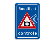 Verkeersbord Roodlicht controle