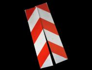 Containermarkering rood/wit klasse II (set 2 stuks / 1 zijde)