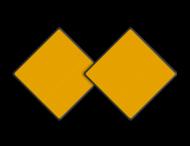 Scheepvaartbord BPR D. 1b - Aanbevolen doorvaartopening, doorvaart uit tegengestelde richting verboden (set 2 stuks)