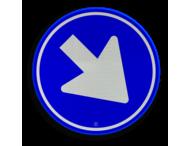 Verkeersbord RVV D02 - Gebod te passeren