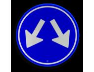 Verkeersbord RVV D03 - Gebod te passeren aan 2 zijden