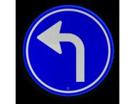 Verkeersbord RVV D05l - Verplichte rijrichting linksaf