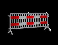 Dranghek 19 spijlen met vol reflecterende panelen klasse III rood/wit