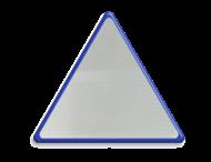 Basisbord omgezette rand - driehoek - reflecterend