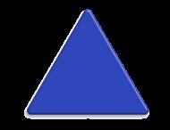 Basisbord omgezette rand - driehoek - rondom gepoedercoat