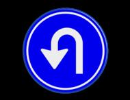 Verkeersbord RVV D serie - hier keren