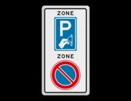 Verkeersbord RVV E01BW111zb - ZONE bord begin