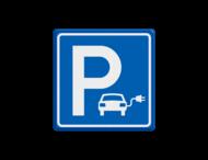 Parkeerbord elektrische auto - vierkant - IKEA