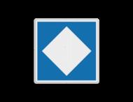 Scheepvaartbord BPR E. 5. gereserveerde ligplaatsen