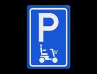 Parkeerbord type E08 scootmobiel