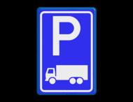Verkeersbord RVV E08c - Parkeerplaats vrachtwagens