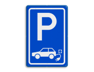 Verkeersbord elektrische auto