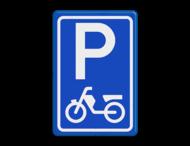 Verkeersbord RVV E08e - Parkeerplaats brommers