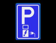 Verkeersbord RVV E08o - oplaadpunt - Parkeerplaats met oplaad punt