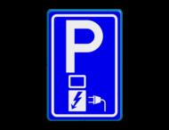 Verkeersbord RVV E08o - oplaadpunt - BE04a