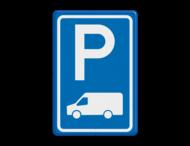 Verkeersbord RVV E08p - Busje - BT19
