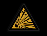 Veiligheidspictogram - Pas Op! Explosief materiaal- W002