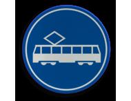 Verkeersbord RVV F15 - Rijbaan of -strook tram